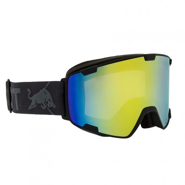 RED BULL SPECT Park Skibrille Goggles Black / Yellow Snow Grey w Yellow Mirror PARK-001