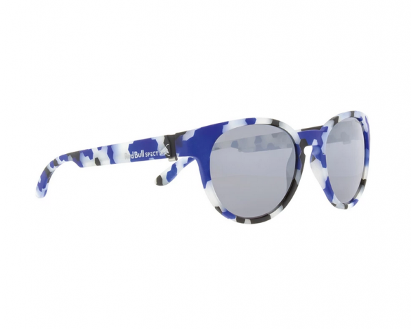 RED BULL SPECT Wing3 Sonnenbrille Camo Blue / Silver Iridium WING4-005