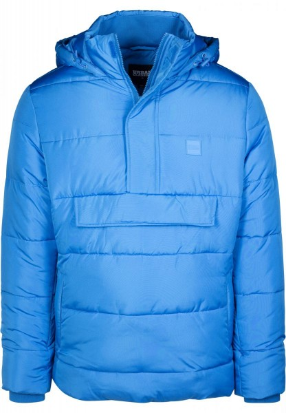 Urban Classics Pull Over Puffer Jacket TB2424-BLUE