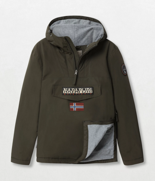 NAPAPIJRI Rainforest Winter Jacket Herren Anorak Militärgrün