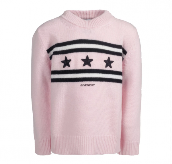 GIVENCHY Girls Knitted Stars Pullover