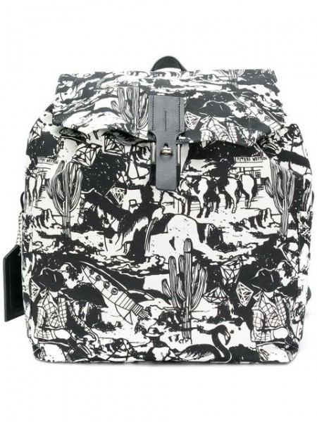 GOLDEN GOOSE DELUXE Backpack Western Print Rucksack