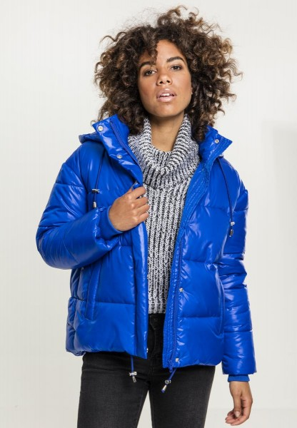 Urban Classics Ladies Vanish Puffer Jacket Blau TB2378-Blue