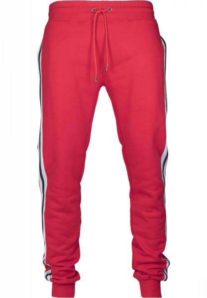 Urban Classics 3-Tone Side Stripe Terry Pants Rot TB2393-RED
