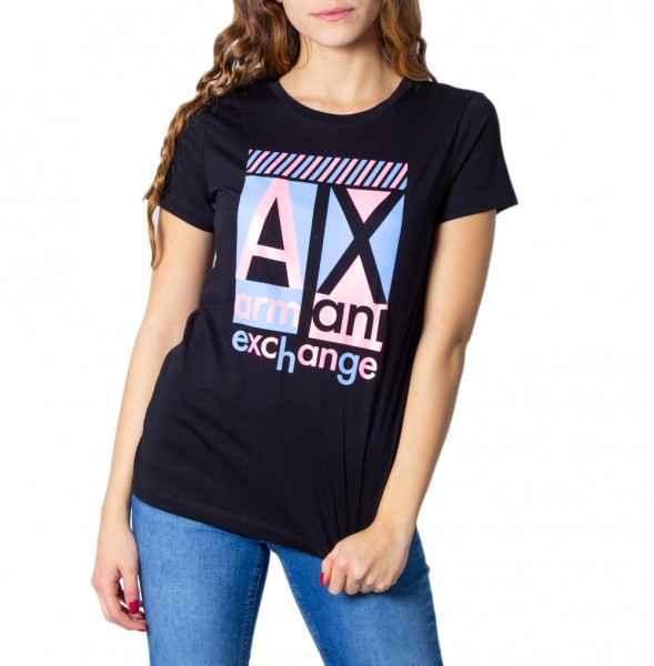 ARMANI EXCHANGE Slim Fit Tee Damen T-Shirt Schwarz