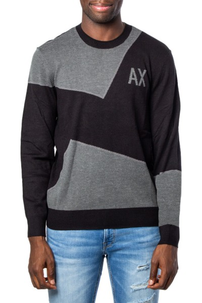 ARMANI EXCHANGE Two Toned Logo Herren Pullover