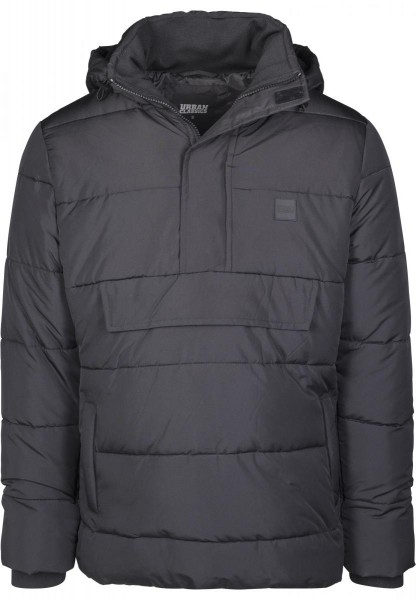 Urban Classics Pull Over Puffer Jacket TB2424-BLACK