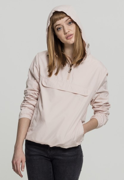 Urban Classics Ladies Basic Pull Over Jacket Rosa TB2013-Light Pink