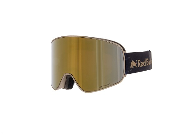 RED BULL SPECT Rush Skibrille Goggles Gold / Gold snow orange w Gold mirror