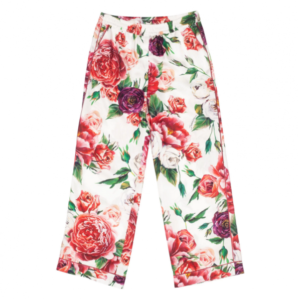 DOLCE&GABBANA Flowers Print Kids Pants