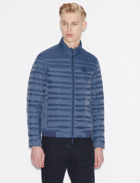 promo code 42fe9 80c19 ARMANI EXCHANGE Light Packable Down Jacket Herren Daunenjacke Blue