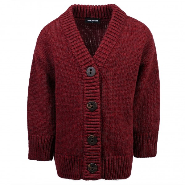 DSQUARED2 Knitted Cardigan Dark Red Kids