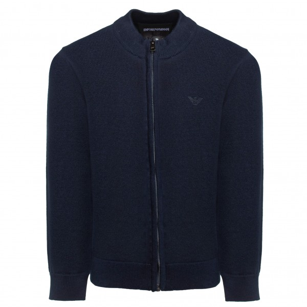 EMPORIO ARMANI Classic High Neck Cardigan Kids