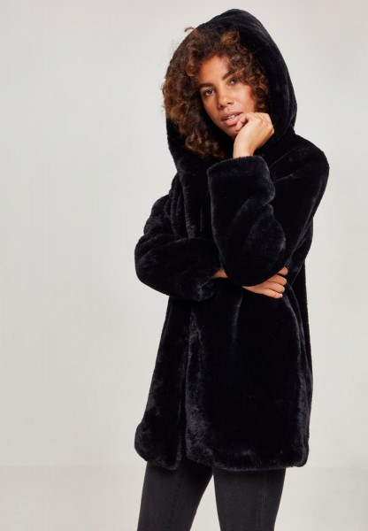 Ladies Hooded Teddy Coat Damen Mantel TB2375