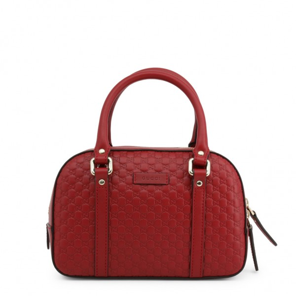 GUCCI Leather Hand Bag Damen Umhängetasche Rot