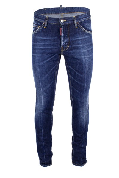 DSQUARED2 Washed Slimfit Denim Jeans Dark Blue Herren