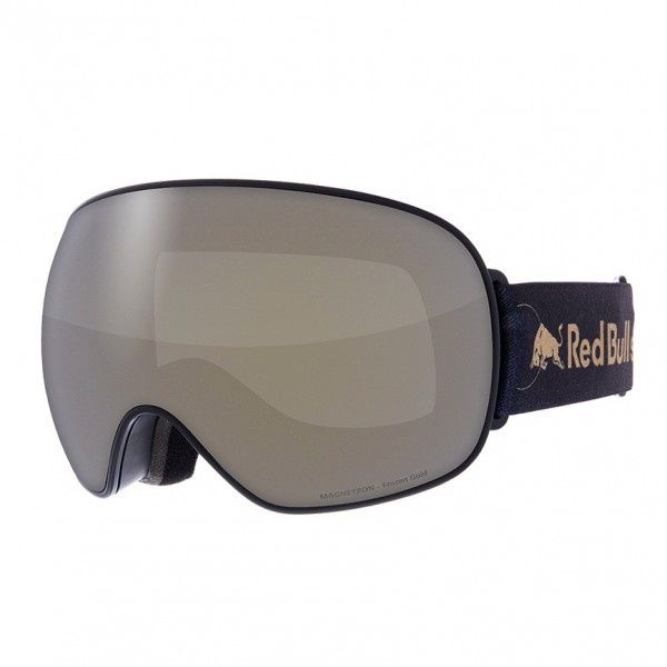 RED BULL SPECT Magnetron Skibrille Goggles Black / Frozen Gold Smoke w Matt Gold Mirror MAGNETRON-019