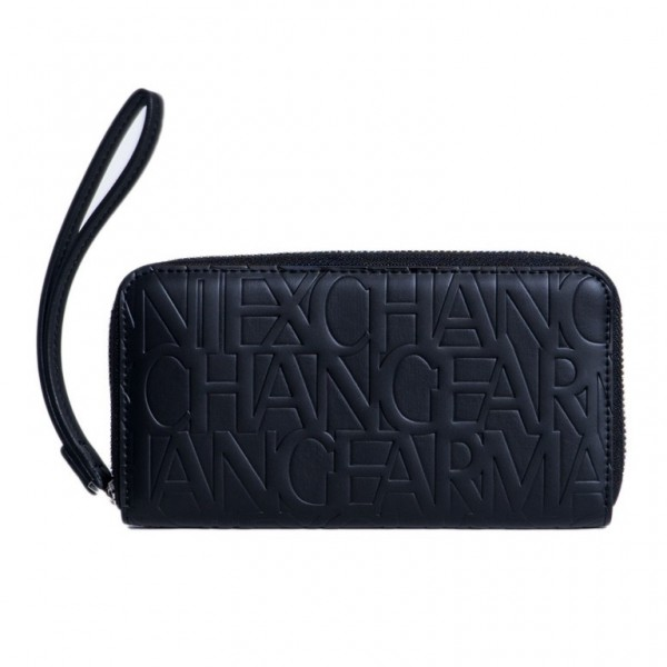 ARMANI EXCHANGE Imprinted Logo Wallet Damen Portemonnaie Schwarz