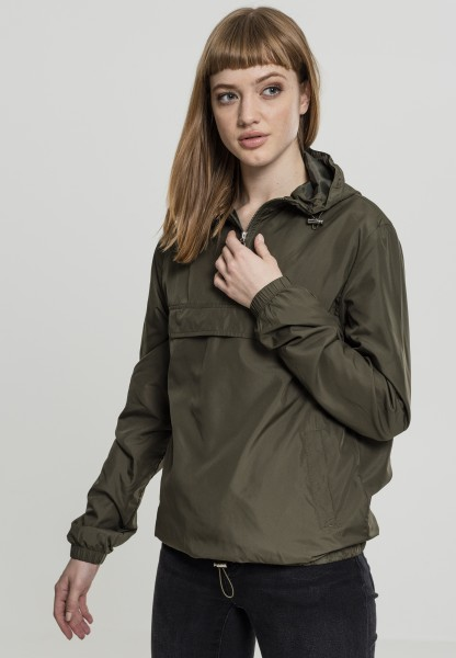 Urban Classics Ladies Basic Pull Over Jacket Olive TB2013-Olive