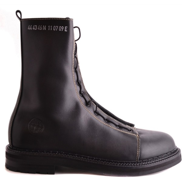 STONE ISLAND High Top Leather Boots Herren Stiefel