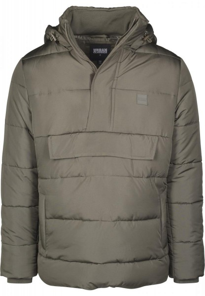 Urban Classics Pull Over Puffer Jacket TB2424-OLIVE