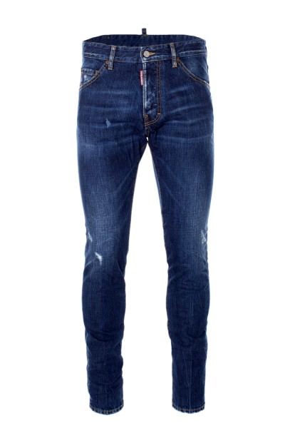 DSQUARED2 Light Faded Destroyed Blue Denim Jeans Herren