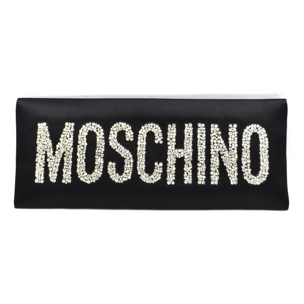 MOSCHINO Crystal Logo Women Clutch