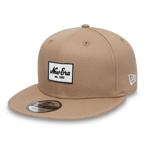 NEW ERA Rubber Script Patch Beige S/M