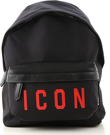 DSQUARED2 Icon Backpack Rucksack Schwarz Rot