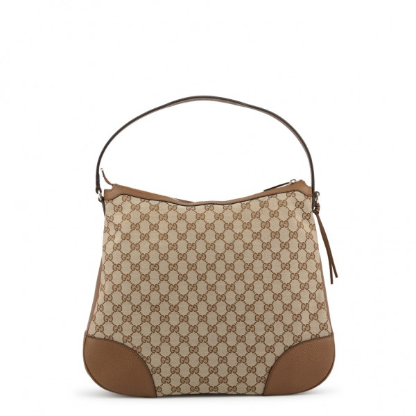 GUCCI Leather Shoulder Bag Damen Umhängetasche Braun
