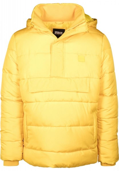 Urban Classics Pull Over Puffer Jacket TB2424-YELLOW