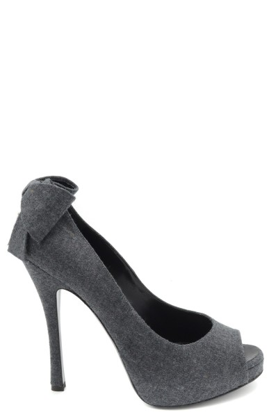 DSQUARED2 Fly Cotton Damen Highheels Peeptoes