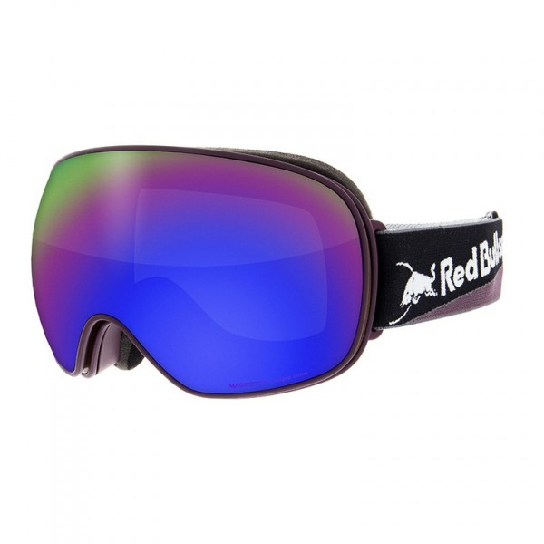 RED BULL SPECT Magnetron Skibrille Goggles Burgundy / Purple Snow Brown w Violet Mirror MAGNETRON-017