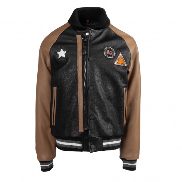 GIVENCHY Leather College Sticker Jacket Kids