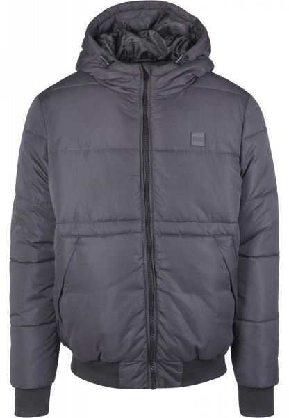 Urban Classics Hooded Peach Puffer Jacket Schwarz TB2427-BLACK