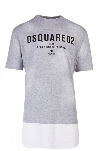 DSQUARED2 Extended Bottom Print Tee Herren T-Shirt S71GD0644-S22146-857