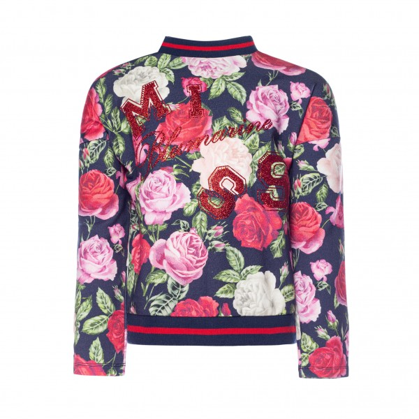 BLUMARINE Girls Roses Sweater