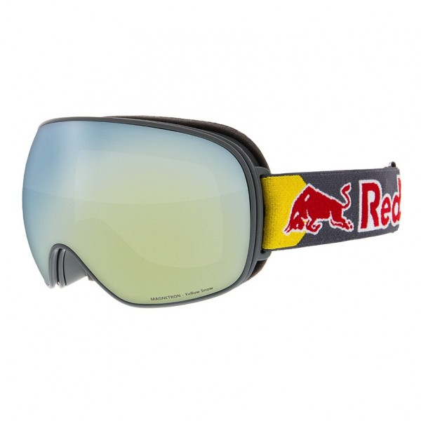 RED BULL SPECT Magnetron Skibrille Goggles Grey / Yellow Snow Grey w Yellow Mirror MAGNETRON-018