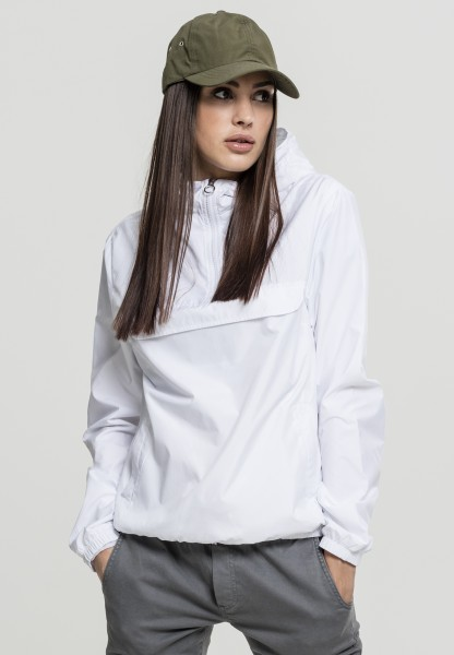 Urban Classics Ladies Basic Pull Over Jacket Weiss TB2013-White