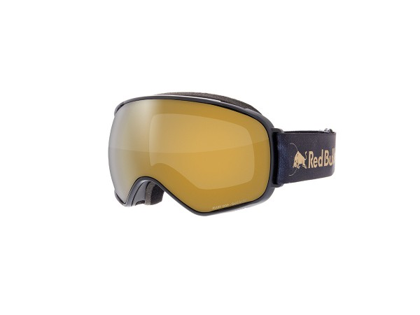 RED BULL SPECT AlleyOop Skibrille Goggles Black / Gold snow w Gold mirror