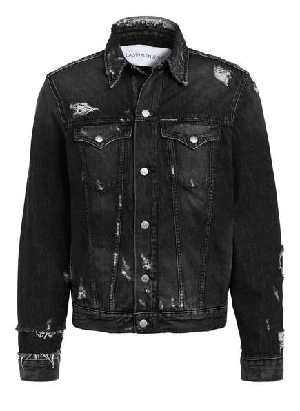 CALVIN KLEIN Destroyed Look Jeansjacke Herren