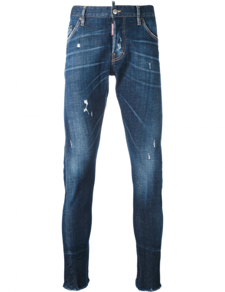 DSQUARED2 Destroyed Denim Jeans Dark Blue Herren
