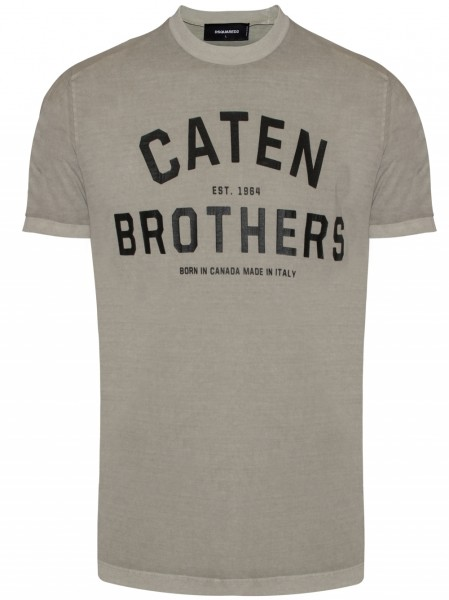 DSQUARED2 Caten Brothers Print Tee Herren T-Shirt S74GD0200-S20694-800
