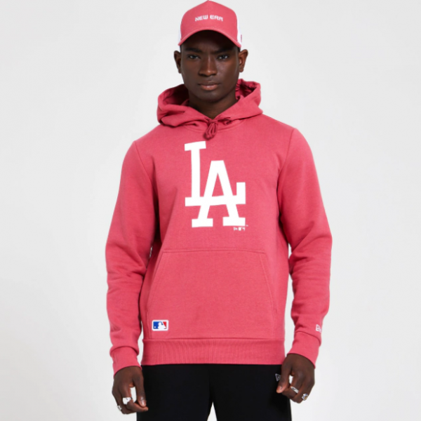 NEW ERA MLB LA Dodgers Seasonal Team Logo Hoody Coral