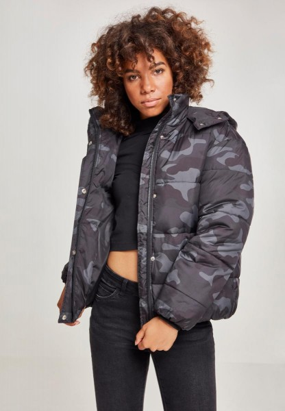 Ladies Boyfriend Camo Puffer Jacket TB2379-0070
