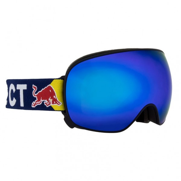 RED BULL SPECT Magnetron Skibrille Goggles Black / Blue Snow Smoke w Blue Mirror MAGNETRON-011