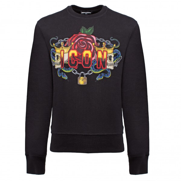 DSQUARED2 Icon Roses Print Sweater Kids