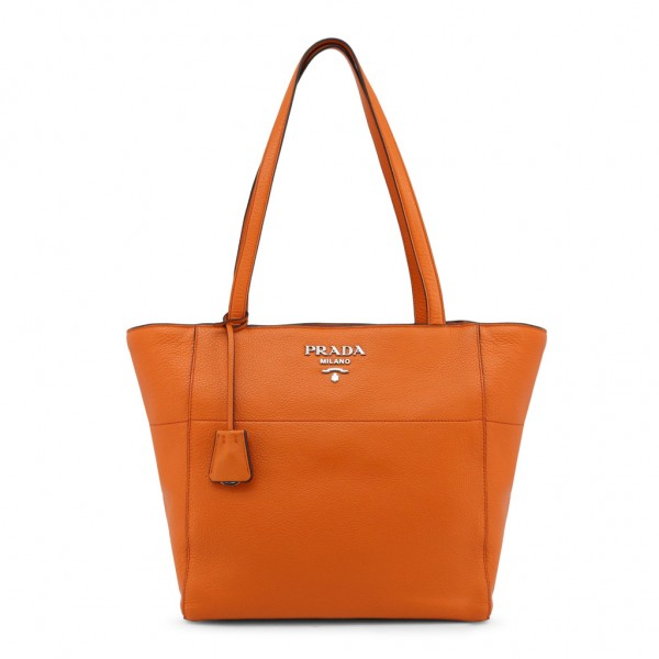 PRADA Saffiano Shoppingbag Damen Handtasche orange