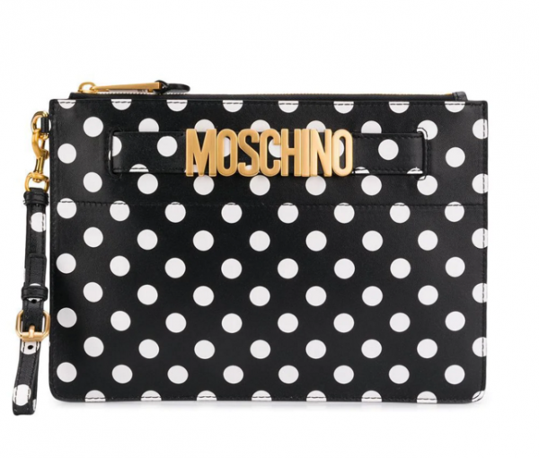 MOSCHINO Polka Dots Clutch Women Bag