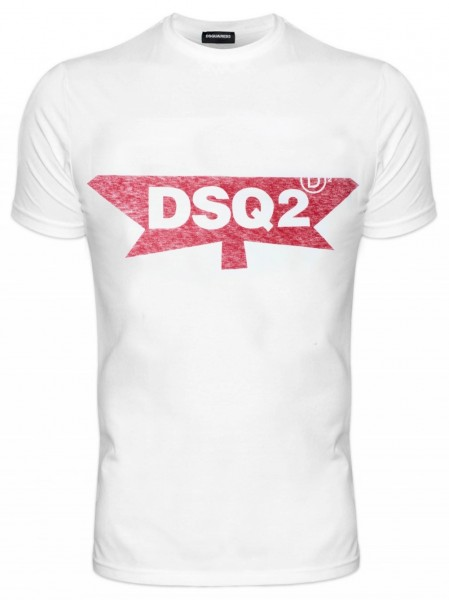 DSQUARED2 Half Maple Print Tee Herren T-Shirt S71GD0596-S22507-100